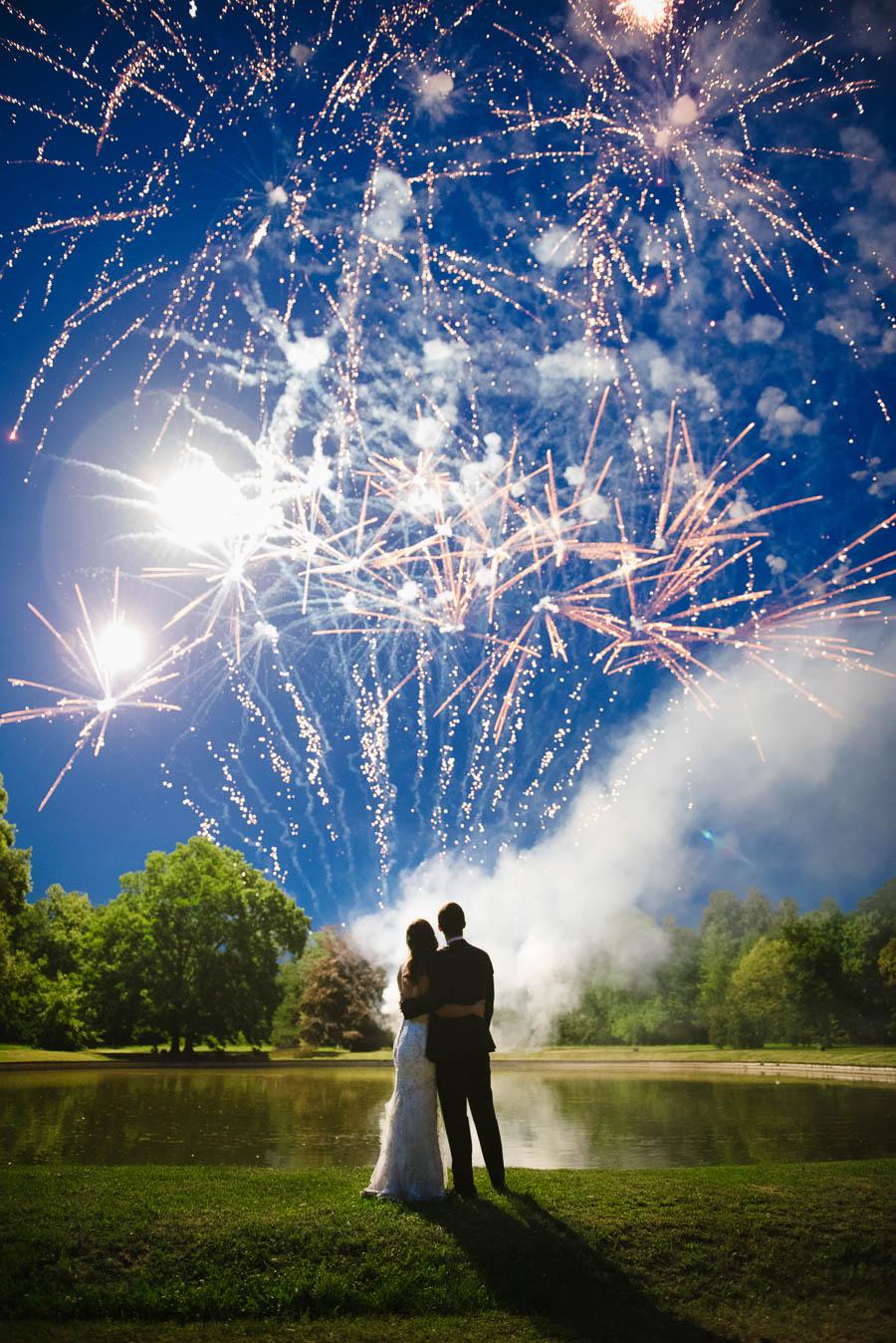 sztuczne ognie naślubie
