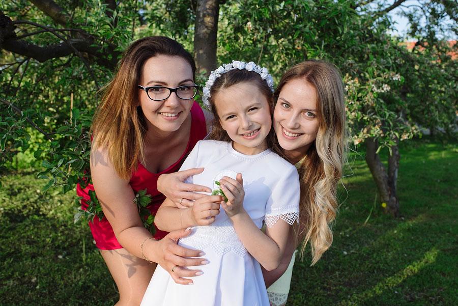 zdjęcia komunijne rodzinne