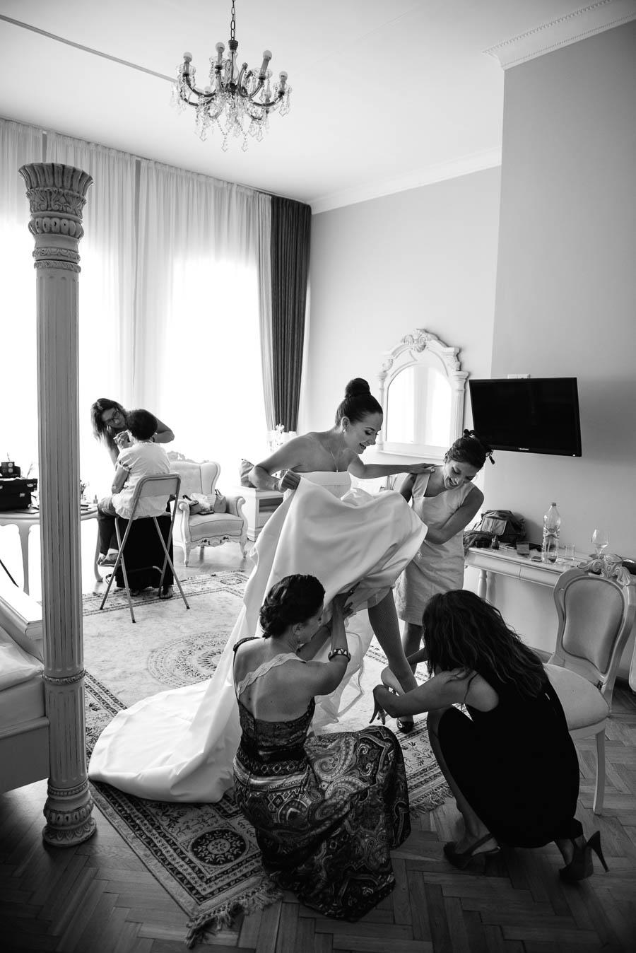 przygotowania do ślubu w pałacu